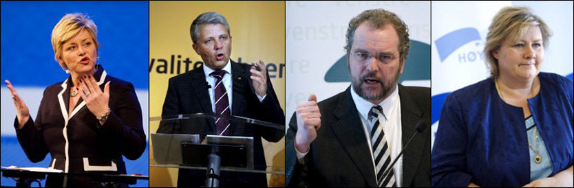 FLERTALL: Ifølge en ny meningsmåling får de borgerlige partiene flertall. Foto: SCANPIX
