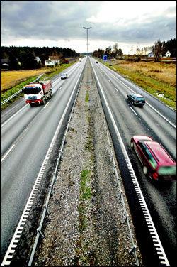 VÅT DRØM: Frp lover minst 230 mill. til ny motorvei, som denne i Rygge i Østfold, frem mot 2019. Foto: Thomas Andreassen