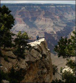 STORSLAGENT: Grand Canyon i Arizona, USA er et storslagent syn. Og uten kostnader til opphold og overnatting, kan kanskje USA-ferien vær oppnåelig? Foto: AFP