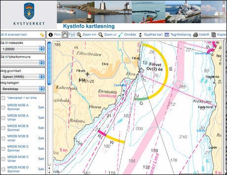 NORSKE FARVANN: Kystverket har tilgjengeligjort sjøkart for hele Norge. Foto: Produsent
