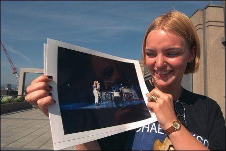 DANSET MED MICHAEL JACKSON: 16-årige Laila Enoksen fikk en opplevelse for livet under Michael Jackson-konserten i 1997. Foto: VG