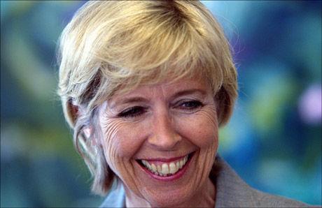 FORNØYD: Forsvarsminister Anne-Grete Strøm-Erichsen. Foto: Scanpix