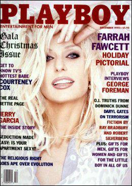 I PLAYBOY: Farrah Fawcett var på forsiden av herremagasinet Playboy i 1995. Foto: Reuters