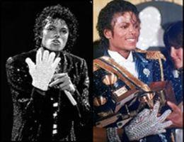 GRAMMY-PRISER Til høyre ser du Michael Jackson med hendene fulle av Grammy-priser. Bildet til venstre er fra Motowns 25 års jubileum. På begge bildene har han på seg den velkjente Bille Jean-hansken. Dette var Michael Jackson på sitt aller beste. Foto: AP