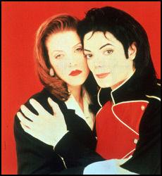 VAR EKTEPAR: Michael Jackson giftet seg med Lisa Marie Presley i 1994. Foto: Scanpix