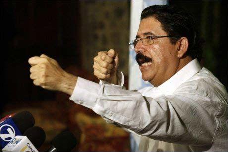ARRESTERT: Den styrtede president Manuel Zelaya ble arrestert sist søndag. Foto: EPA