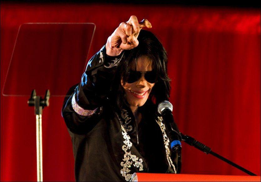 PLANLA AVSLUTNING: I mars 2009 annonserte Michael Jackson sitt comeback. Det fikk fansen aldri oppleve. Foto: Fredrik Solstad