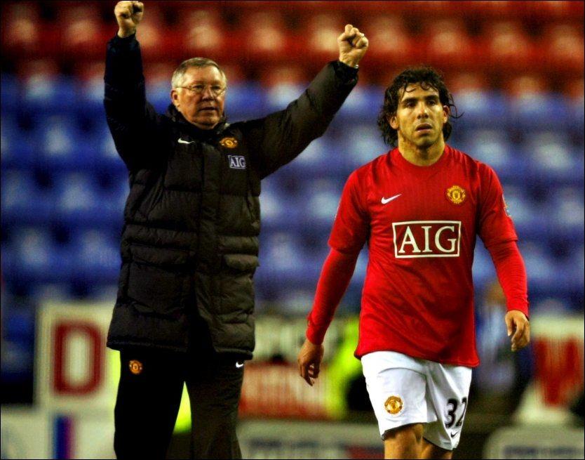 AVTALE I JANUAR?: Alex Ferguson mistenker at Carlos Tevez bestemte seg for å forlate Manchester United lenge før overgangsryktene begynte å florere. Foto: Fredrik Solstad, VG