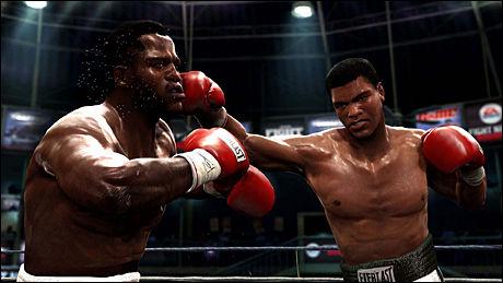 REALISTISK: Fysikkmotoren og grafikken gjør «Fight Night Round 4» til en svett, blodig og troverdig opplevelse. Foto: EA SPORTS