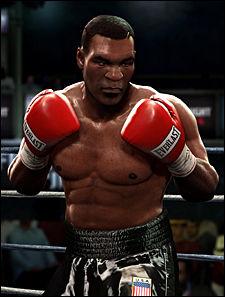 FRYKTINNGYTENDE: Det er skummelt å møte Mike Tyson i ringen i «Fight Night Round 4». Foto: EA SPORTS