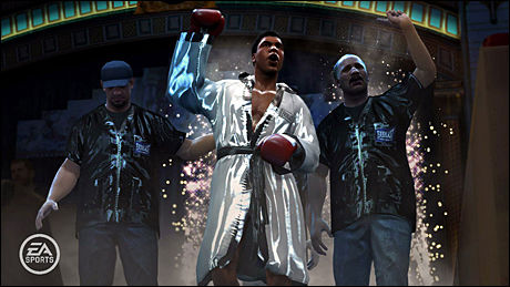 INNLEVELSE: Bokselegendene i «Fight Night Round 4» oppfører seg som i virkeligheten - også utenfor ringen. Foto: EA SPORTS