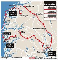 Fire dagers knipsereise i fjord og fjell