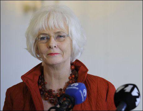 EU-TILHENGER: Islands statsminister Jóhanna Sigurdardóttir. Foto: AFP