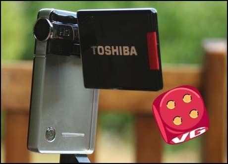 Foto: Toshiba Camileo S10 er lekkert, lite og går rett ned i bukselomma.