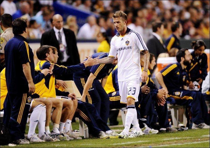 MÅ SPILLE I STORKLUBB: David Beckham tvinges trolig tilbake til Europa - iallfall dersom han vil spille VM for England. Foto: AFP