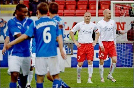 YDMYKET: Fredrikstad tapte 1-6 mot Lech Poznan i Europacup-kvaliken. Foto: Scanpix