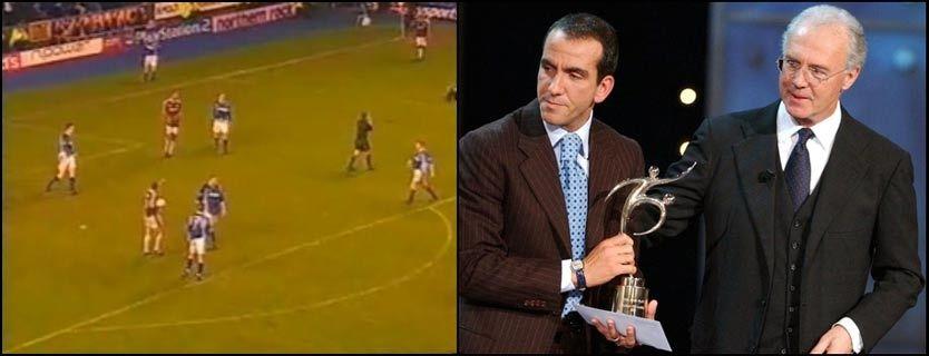 FIKK PRIS: Paolo Di Canio fikk Fair Play-prisen av FIFA-president Franz Beckenbauer etter at han valgte å ikke score da Evertons keeper lå nede med skade i 2000. Foto: AP