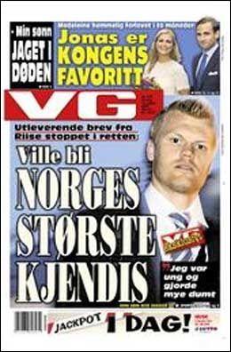 DAGENS VG-FORSIDE. Foto: VG