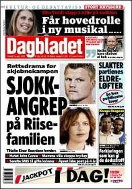 DAGENS DAGBLADET-FORSIDE. Foto: Dagbladet