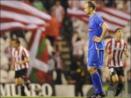 JOBBEN IKKE GJORT: Sigurd Rushfeldt tror Atlethic Bilbao kan bli vanskelig å bryte ned på Alfheim. Foto: AP