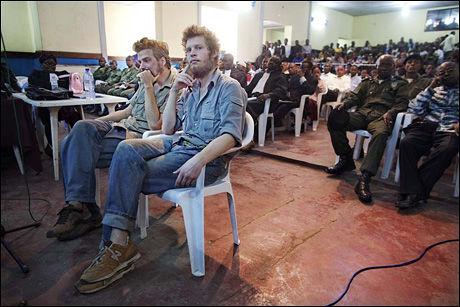 NY DAG I RETTEN: Joshua French og Tjostolv Moland. Foto: JØRGEN BRAASTAD