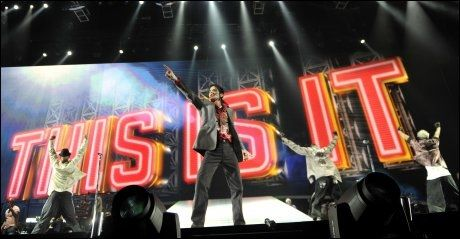 DANSER: Michael Jackson øver 23. juni i Staples Center i Los Angeles. Foto: AP Photo