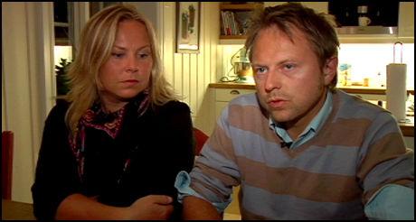 I SORG: Foreldrene til avdøde Edvard, mamma Ine Thorkildssen og pappa Ole Albert Bøhn sørger over tapet av sin egen sønn, men vil bruke sin historie til å sette fokus på mangler ved justis- og samferdselspolitikken i Norge. Foto: Merete Gamst