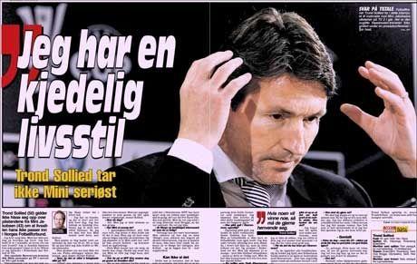 DAGENS VG: Intervjuet med Trond Sollied der han sanakker om Minis uttalelser, sin livsstil, tiden i Heerenveen og landslagssjefjobben. Foto: VG