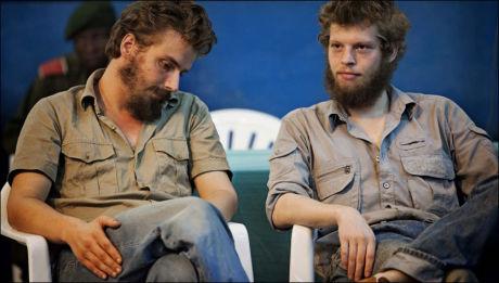 DØMT TIL DØDEN: Joshua French (27) får nå britisk bistand. French og Tjostolv Moland (28) er dømt til døden i en miltærdomstol i Kongo. Foto: Jørgen Braastad