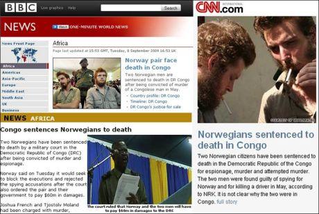 VEKKER OPPSIKT: Dødsdommen mot Tjostolv Moland og Joshua French omtales over hele verden. Foto: FAKSIMILE