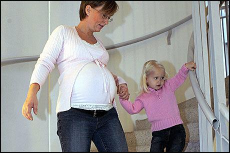 VIKTIG MED MOSJON: En norsk studie viser at gravide kvinner som trener og er i bevegelse reduserer risikoen for å få føde for store barn. Foto: Modellklarert illustrasjonsfoto: Scanpix