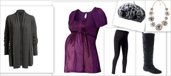 5928747e475e En omslagskjole med belte er også et flott alternativ hvis du er gravid og  skal på fest. I høst er det farger som lilla