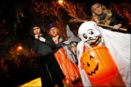 HALLOWEEN: Er du lei av unger som maser om godterier, kan du for eksemepel sjekke inn på et spøkelsehotell i Halloween-helgen. Foto: Scanpix