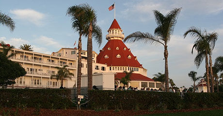 CALIFORNIA: Også på Hotel del Coronado i California skal det være spøkelser. Foto: Hotel del Coronado