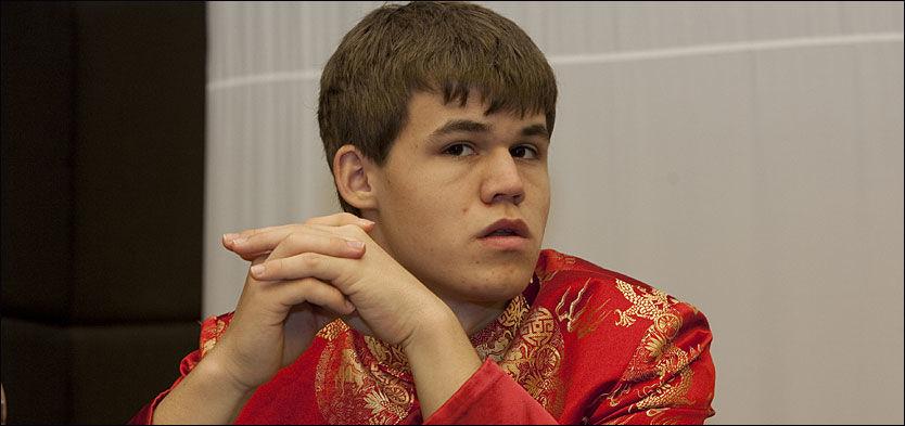 VINNER: Magnus Carlsen i den kinesiske superturneringen Nanjing Pearl Spring. Foto: Scanpix