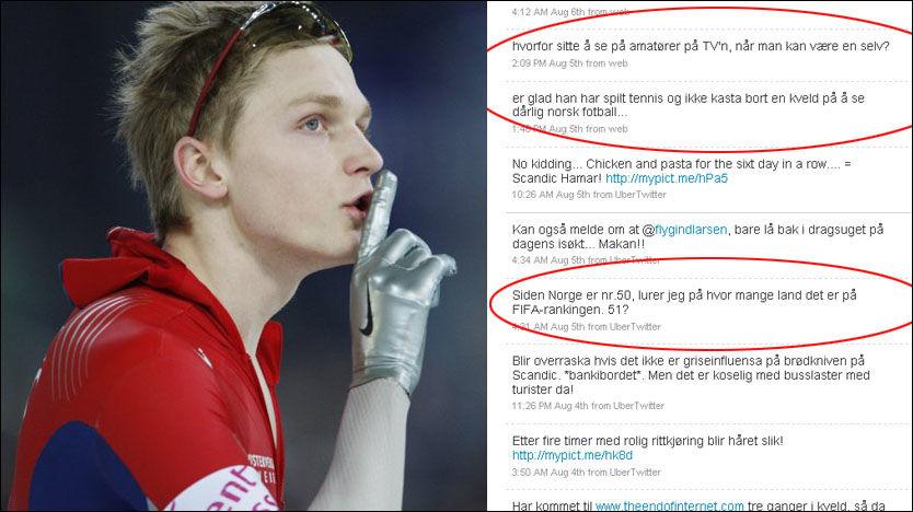 FRISK: Håvard Bøkko er frisk i meldingene om norsk fotball på Twitter. Foto: Scanpix/Twitter
