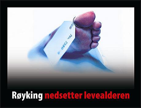 STERKE BILDER: Dette er en av de nye advarslene. Foto: Helsedirektoratet