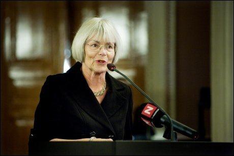 FORNØYD: Forsknings- og høyere utdanningsminister Tora Aasland (SV), mener at regjeringen levererer et godt budsjett. Foto: SCANPIX