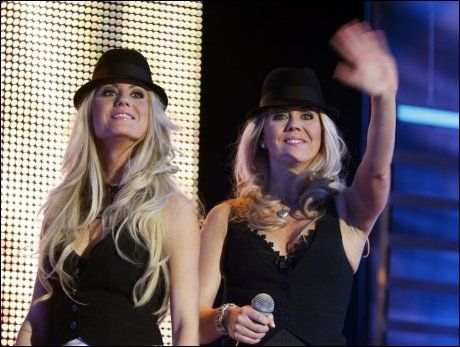 THE JOHNSON SISTER: fremførte Hit the road Jack. Foto: SCANPIX