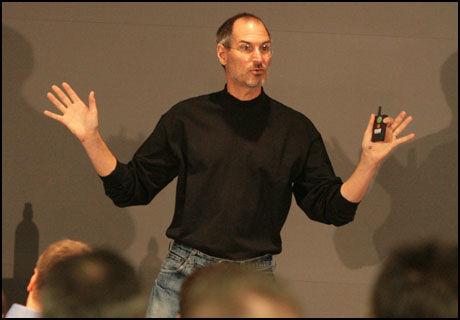 SELGER BRA: Apple leverer et kvartal med vekst, etter rekordsalg av Mac og Iphone. Steve Jobs er godt fornøyd. (Foto: Scott Taylor/IDGNS)
