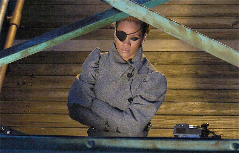 TILBAKE: Rihanna under innspillingen av sin nye musikkvideo. Foto: BULLS Foto: