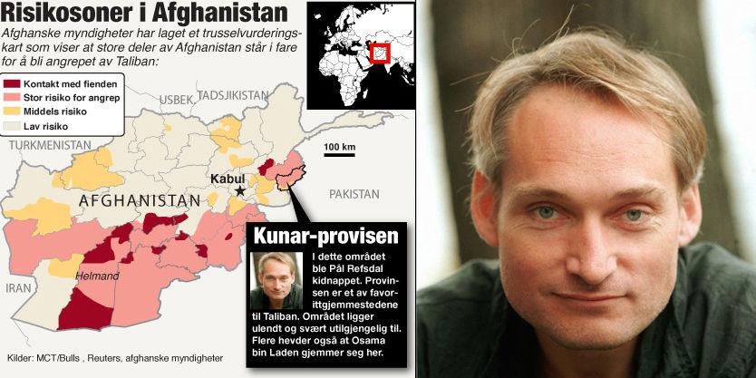 KIDNAPPET: Den norske journalisten Pål Refsdal (46) ble holdt fanget i det konfliktfylte grenseområdet til Pakistan. Foto: Scanpix/VG Nett