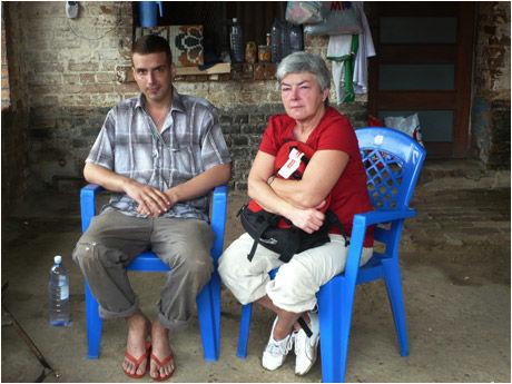 BESØK: Tjostolv Moland fikk søndag besøk av sin mor Mathilde i fengselet. Foto: Scanpix
