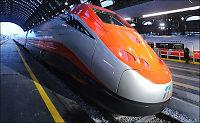 Ta toget fra Milano til Roma på tre timer