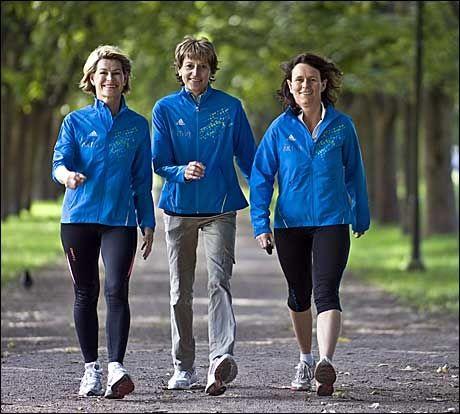 AKTIVITET GIR OVERSKUDD: Både Gro Gjerdrum, Grete Waitz og Helle Aanesen merker at fysisk aktivitet gir dem mer energi. Foto: Bjørn Thunæs