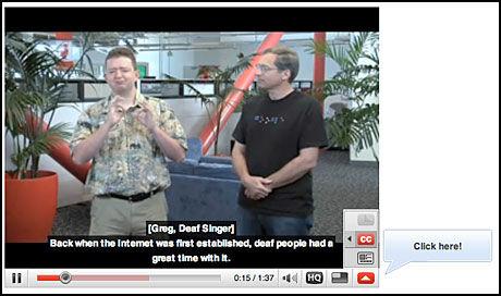 FOR DØVE: YouTube satser på å rekruttere stort blant døve, ved å automatisk tekste videoer som sendes inn. Foto: Skjermbilde