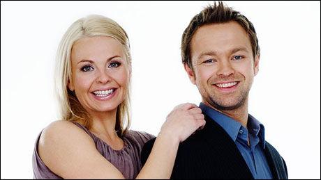 NY DUO: Her er den nye programlederduoen for Norske Talenter. Foto: TV 2