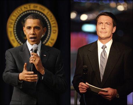 IKKE TID: Barack Obama blir ikke intervjuet av Jonathan Mann når han mottar Nobels fredspris i Oslo denne uken Foto: EPA/CNN