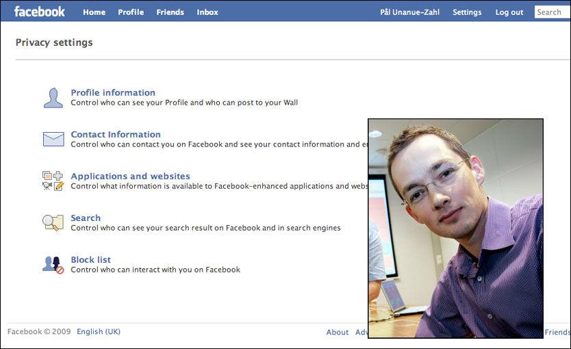 ENIG I KRITIKK: Facebooks policy for håndtering av privatliv er kritikkverdig, mener Hans Marius Graasvold. Nå skrives det klage. Foto: Skjermbilde / Aftenposten