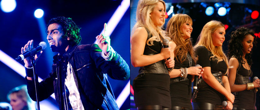 FINALEKLARE: Trønderrockkeren Chand Torsvik og jentegruppa Shackles er finalistene i X Factor. Foto: ScanpixFoto: Scanpix